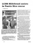 LCDR Hildebrand assists in Puerto Rescue