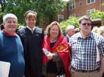 Joe Hildebrand, Justin, Connie & Tim.  It was taken on 5/18/2009, at Justin's graduation from Wake Forest University in